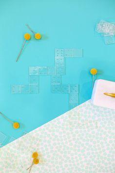 Diy Crafts Ideas : DIY Acrylic Dominoes   lovelyindeed.com