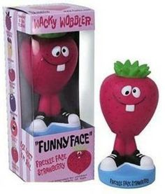 Funny Face Wacky Wobblers Jolly Olly Orange and Freckle Face Strawberry http://popvinyl.net #funko #funkopop #popvinyls