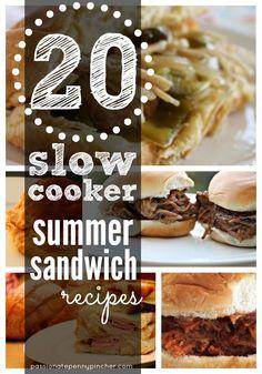 20 Slow Cooker Sandwich Recipes