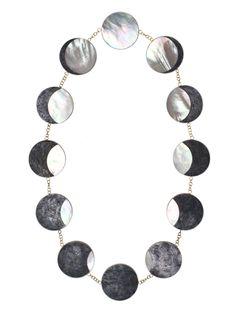 Philip Sajet  Necklace: Eclipse 2012  Niello silver, pearl, gold
