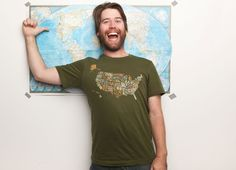 "Perfect for a road trip! ""What I Know About the USA"" - Threadless.com - Best t-shirts in the world"