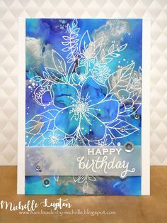 Handmade by Michelle: Alcohol ink blues