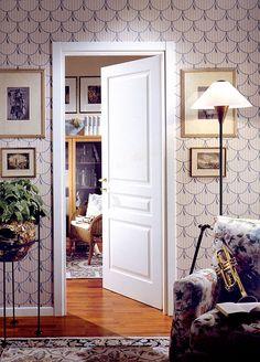 イタリア ネオ・クラッシック デザイン 木製ホワイト塗装室内ドア MIRABILIA