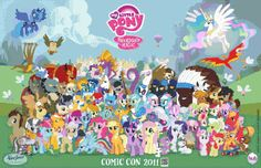 FREE My Little Pony Cast Cross Stitch Chart