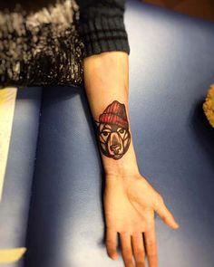 ayı erkek bilek dövmeleri bear wrist tattoos for men