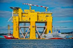 Photos of Dolwin Beta Moved from the Rig to the North Sea, Aibel