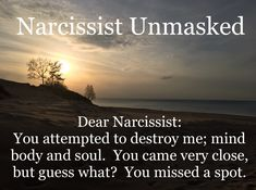 The difference between us and you is that We still have a heart! Even after you tried to crush us..unlike you, you miserable cold, calloused, sociopath! (Divorce Narcissist)