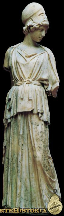 Atenea Autor: Mirón Fecha: 450 a.C. Museo: Stadelsches Institut de Frankfurt  Grecia Material: Mármol