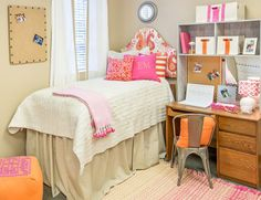 Turn your dorm room lighter with lighter colors. This can instantly make you feel more relaxed.