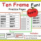 This is a set of 6 ten frame worksheets. Students will practice identifying and showing numbers 1-20 using ten frames.  The apple theme makes it pe...