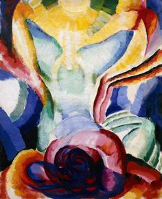 František Kupka, The Colored One, ca. 1919–20. Oil on canvas, 25 5/8 x 21 1/4 inches (65 x 54 cm)