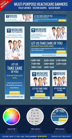Healthcare Web Banners Template PSD | Buy and Download: http://graphicriver.net/item/healthcare-banners/4057209?WT.ac=category_thumb&WT.z_author=msrashdi&ref=ksioks