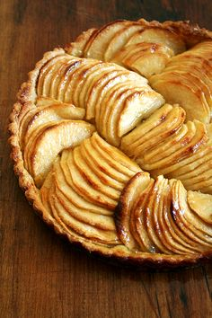Brimming with fanned apple slices, this French apple tart makes for a beautiful finale to any fall dinner. Peeling and slicing do take a bit of time, but the effort is worth the reward, and results in a most delectable and elegant dessert! // alexandracooks.com