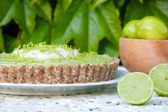 This delicious healthy take on a classic Key Lime Pie uses avocado for its creamy base, although you'd never know it. Dairy free, sugar free and gluten free.