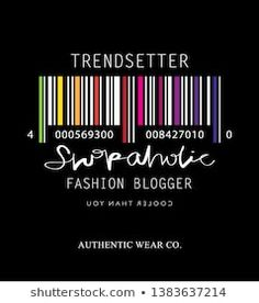 Fashion illustration tee slogan design for t shirts, prints, posters etc / Shopaholic, trendsetter, fashion blogger concept Slogan Design, Typography Poster Design, Gorillaz, Trends, Printed Tees, Digital Prints, Graphic Tees, Kids Fashion, Label
