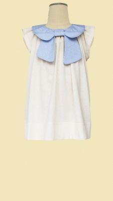 Bow Collar Dress from Hucklebones London