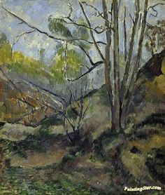 Undergrowth Artwork by Paul Cezanne Hand-painted and Art Prints on canvas for sale,you can custom the size and frame