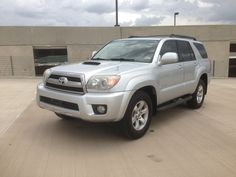 2006 Toyota 4Runner SR5 Sport Edition 124,675 miles Ext: Silver, Int: Black Leather Engine: 4.0L V6 Tranny: 5 Speed Auto Drive Type: RWD Mpg city/hwy: 16/20 Stereo/navigation options: CD/AM/FM/MP3 premium stereo system Air bag options: Dual Front, Side Curtain  Additional options:  Power locks and windows Climate Control Traction Control Cruise Control Remote Keyless Entry Automatic Roll Down Rear Hatch Window  NADA value price: 15,175 AutoKinect price: $12,500…