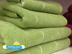 комплект Зелени луксозни хавлиени кърпи от египетски памук