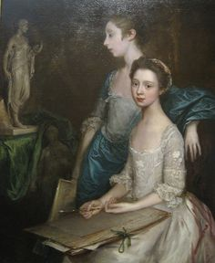 Portrait of the Artist's Daughters    Thomas Gainsborough  British, 1727-1788    This portrait dates to sometime in the early 1760s, depicting Gainsborough's two daughters, Mary and Margaret. The elder, Mary, was born in 1748; Margaret was four years younger.