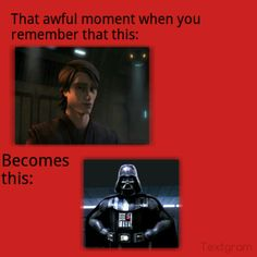 The Clone Wars cartoon made me like Anakin....WHY MUST YOU REMIND ME?! *makes sound like dying whale and sobs*