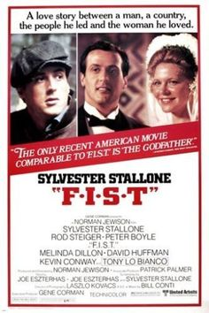 sylvester stallone FIST movie poster 1978 LABOR UNION UPRISING romance 24X36