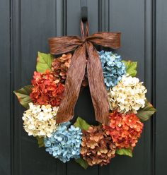 Fall Wreaths Summer Wreaths Shabby Chic Fall by twoinspireyou, $85.00