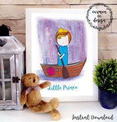 Boy Nursery Wall Art Little Prince Nursery Print by CarmenCCdesign