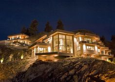 Insane huge home perched on a mountainside