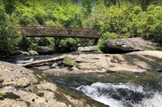 At the end of the trail is the bridge crossing the Chattooga River.