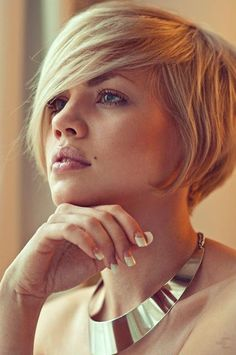 short bob/long bangs