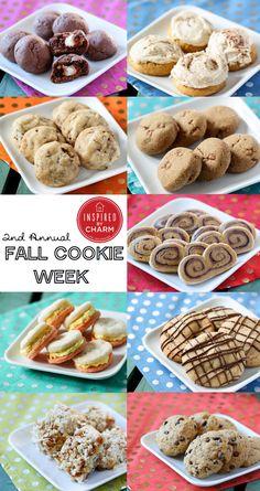 Fall Cookie Week - nine delicious cookie recipes for Autumn! #IBCFallCookieWeek