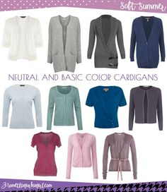 Wardrobe Essential: Neutral and basic color cardigans for Soft Summer women by Informations About Wardrobe Essentials: Cardigans for Soft Women ~ 30 something Urban Girl Pin You c Summer Wardrobe, Capsule Wardrobe, Wardrobe Basics, Work Wardrobe, Soft Summer Color Palette, Summer Colors, Neutral Palette, Summer Cardigan, Zooey Deschanel