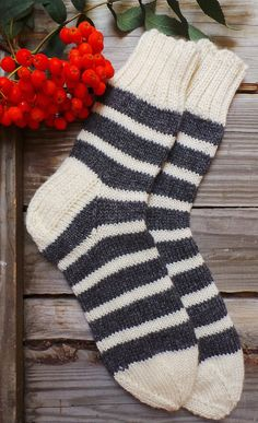 Check out Striped Cream and Grey Socks by Granny. Hand knitted with Wool & Acrylic blend. Wool Socks - Walking Socks - Lounge Socks - Bed Socks on handcraftedbyevakuno