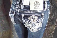 NWT La Idol designer boot cut bling embellished jeans size 19 (41 waist)  #LaIdol #BootCut