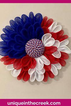 HOORAY FOR THE RED WHITE AND BLUE! Get Patriotic this season with a Unique in the Creek wreath board and your favorite materials! This beautiful Patriotic Mesh Wreath was created by Monica Hale-Woodruff using a Unique in the Creek wreath board! Discover how to make a DIY patriotic wreath for your front door or create this stunning craft to sell! DIY Fourth of July decor for your front porch has never been easier! Shop Unique in the Creek and get creating today! #diypatrioticdecor #uitc Patriotic Crafts, Patriotic Wreath, Flower Wreaths, Diy Flowers, Fourth Of July Decor, Diy Fall Wreath, Decor Ideas, Gift Ideas, Sell Diy