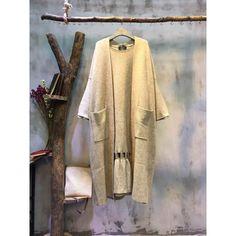 Mori Girl #Front Pockets #Loose #Plain #Cardigan Elegant Long Cardigan For Woman