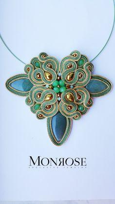 Soutache Pendant, Soutache Necklace, Earrings, Shibori, Beaded Embroidery, Brooches, Macrame, Jewerly, Pendants