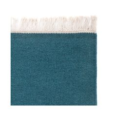 Designed in a palette of striking colours, our Manu Rug is sure to grab your attention. Solid shades are set off by the tightly woven wool and cotton blend on this reversible rug, embellished with a beige fringe. Ethically created by hand in India, the Care & Fair certified Manu has a quality finish that will withstand regular household wear and tear. An adaptable all-rounder available in a range of shades, it�s perfect for use in all areas of your home, no matter the decor.   Team with…