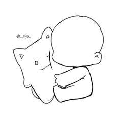 59 New Ideas For Anime Art Sketch Manga Kawaii Anime Drawings Sketches, Kawaii Drawings, Cute Drawings, Chibi Sketch, Anime Sketch, Drawing Base, Manga Drawing, Chibi Drawing, Chibi Body