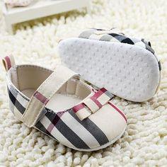 Baby shoes / Schuhe kariert / plaid gr. 0-6 mon. 6-9 mon & 9-12 mon. insperation BB girl / Mädchen
