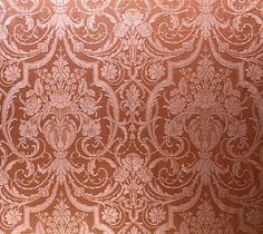 Self coloured damask based on a velvet of french or italian origins in the style of late 17th early 18th centuries.