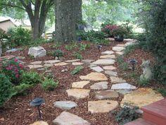 Stone Walkway In Shade Garden