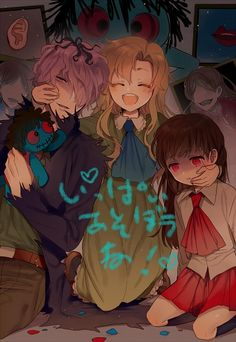 Tags: Anime, In (Motimoti), Ib, Garry, Blue Doll, Lady in Red, Mary (Ib)