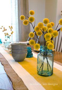 love the mustard and the aqua...michelle lea designs: Michelle Lea Designs: Fall Home Tour 2014