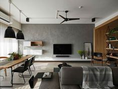 80 Smart Solution Small Apartment Living Room Decor Ideas And Remodel Small Apartment Living, Small Apartments, Family Apartment, Studio Apartments, Modern Small Apartment Design, Living Room Tv, Home And Living, Small Living, Modern Living