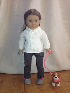 "18"" doll cabled sweater free knitting pattern"