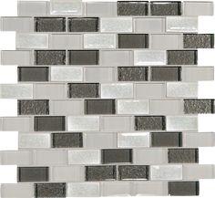 Crystal Shores Delta Diamond 12x13 Brick-Joint Blended Mosaic