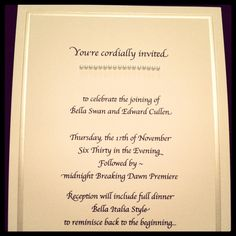 Breaking Dawn Party Invitations