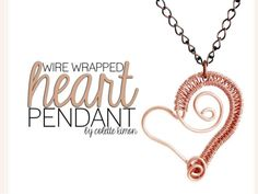 Wire woven heart pendant by HouseofGems.com via slideshare